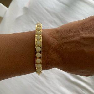 JCrew gold and cream bangle bracelet
